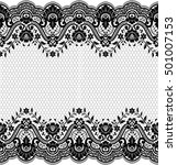 seamless lace pattern  flower... | Shutterstock .eps vector #501007153
