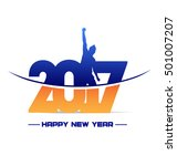 happy new year 2017 new year... | Shutterstock .eps vector #501007207