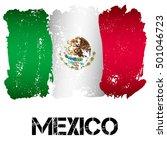 flag of mexico from brush... | Shutterstock .eps vector #501046723