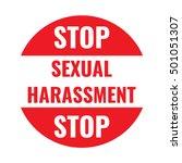 stop sexual harassment. badge... | Shutterstock .eps vector #501051307
