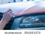 pasting of car carbonic plastic ... | Shutterstock . vector #501051373