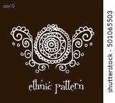mandala ethnic style mandala... | Shutterstock .eps vector #501065503