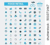 food retail icons | Shutterstock .eps vector #501071467