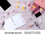 overhead of a essentials... | Shutterstock . vector #501071533