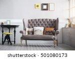 cozy living room interior in... | Shutterstock . vector #501080173