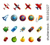 kids toys and objects | Shutterstock . vector #501101227