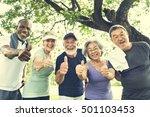 Senior Group Friends Exercise...