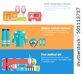 medical rescue uniform and set... | Shutterstock .eps vector #501113737