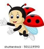 cute ladybug cartoon | Shutterstock .eps vector #501119593