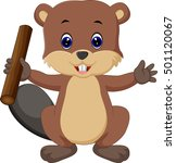 beaver cartoon | Shutterstock .eps vector #501120067