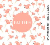 flamingo bird background.... | Shutterstock .eps vector #501121303