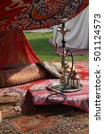 nargila hookah and turkish rugs ... | Shutterstock . vector #501124573