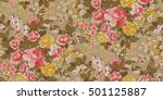 seamless floral pattern in... | Shutterstock .eps vector #501125887