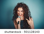 singer. closeup head shot sexy... | Shutterstock . vector #501128143