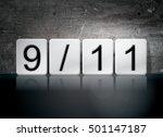 "the word ""9 11"" written in... | Shutterstock . vector #501147187"