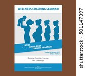 wellness flyer templates   Shutterstock .eps vector #501147397