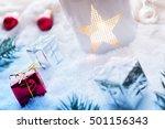 Snowy Christmas Decoration Wit...