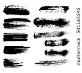 black ink vector brush strokes  ... | Shutterstock .eps vector #501165343