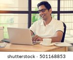 indian man working at office | Shutterstock . vector #501168853
