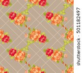 seamless floral pattern with... | Shutterstock .eps vector #501182497