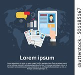 curriculum vitae recruitment... | Shutterstock .eps vector #501185167