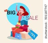 Woman With Shopping Bag Presen...