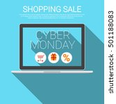 cyber monday big shopping sale... | Shutterstock .eps vector #501188083