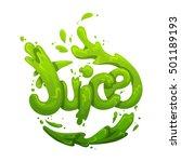 juice splash sign | Shutterstock . vector #501189193