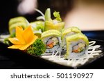 ma ki roll  avocado roll... | Shutterstock . vector #501190927