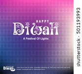 happy diwali background design. ... | Shutterstock .eps vector #501193993