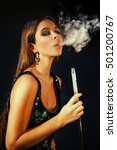 young  beautiful girl in club... | Shutterstock . vector #501200767