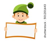 boy and banner character vector ... | Shutterstock .eps vector #501201643