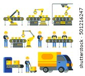 manufacturing process with... | Shutterstock .eps vector #501216247