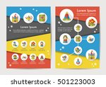fairy tale icons set with long... | Shutterstock .eps vector #501223003
