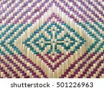 Colorful Bamboo Woven Abstract...