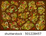 colorful vector hand drawn... | Shutterstock .eps vector #501228457