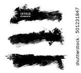 monochrome ink brush vector eps ... | Shutterstock .eps vector #501231847