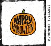 happy halloween vintage... | Shutterstock . vector #501232813