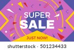big super sale horizontal... | Shutterstock .eps vector #501234433