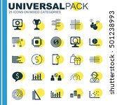 set of 25 universal editable... | Shutterstock .eps vector #501238993