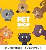 poster pet shop cute cats...