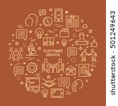 line concept customer service.... | Shutterstock . vector #501249643