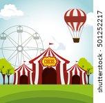circus tents funfair... | Shutterstock .eps vector #501252217