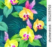 seamless vector floral design... | Shutterstock .eps vector #501255703
