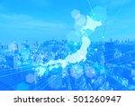 japan map business background...   Shutterstock . vector #501260947