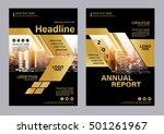 gold brochure layout design... | Shutterstock .eps vector #501261967