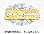 assets and liabilities   sketch ... | Shutterstock . vector #501268573