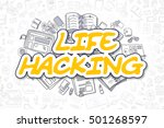 cartoon illustration of life... | Shutterstock . vector #501268597