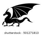 vector sign. dragon.   Shutterstock .eps vector #501271813