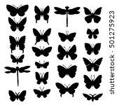 vector set of butterflies and... | Shutterstock .eps vector #501275923